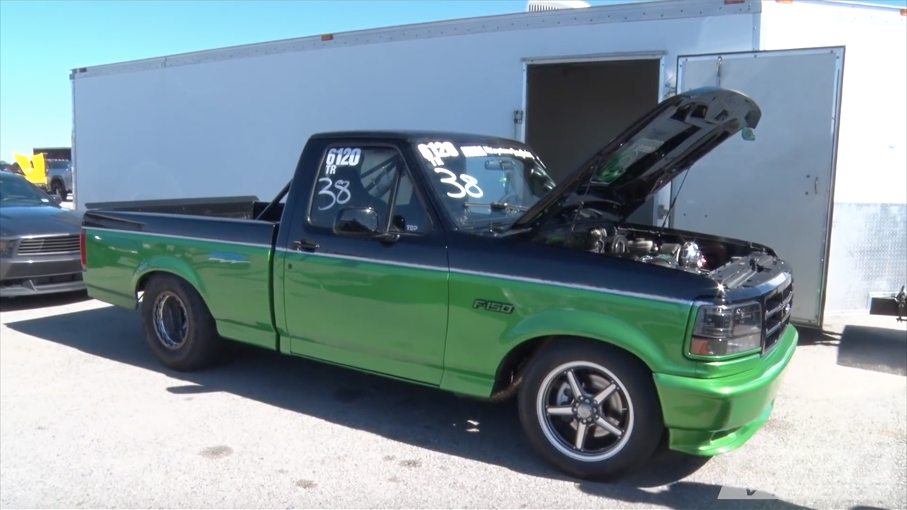 ford lightning with a twin turbo coyote v8 engine swap depot. Black Bedroom Furniture Sets. Home Design Ideas
