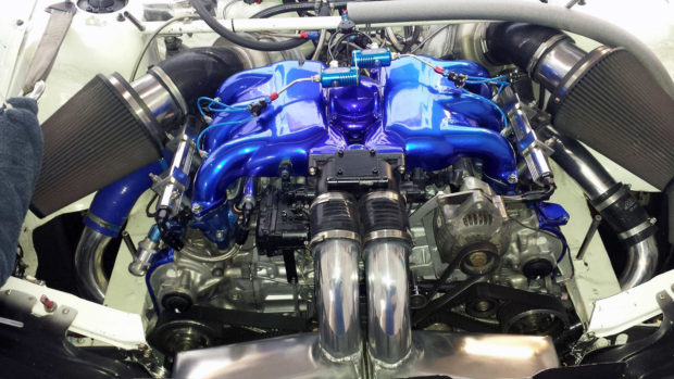 AFP Subaru Impreza WRX with a twin-turbo 3.6 L EG33 flat-six
