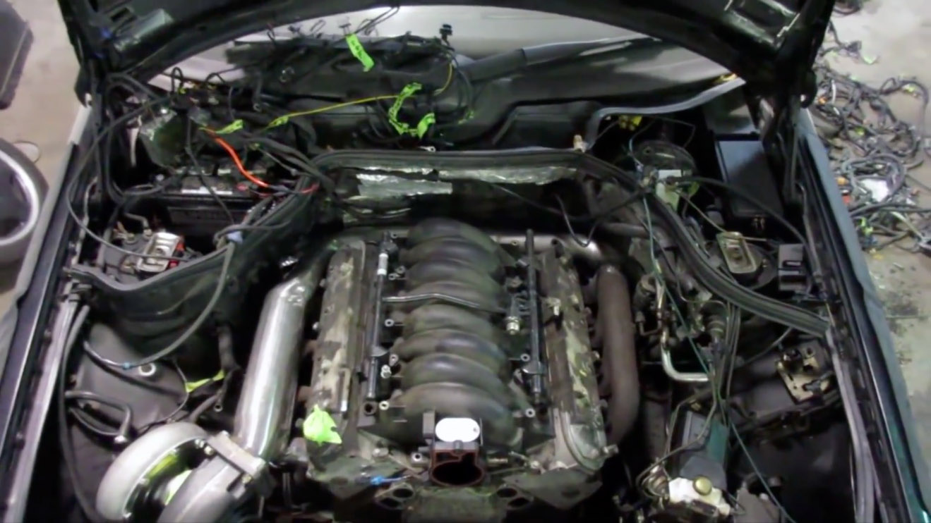 1994 Mercedes Wagon With A Turbo Lsx Part 4 Engine Swap Depot W124 Wiring Harness Repair