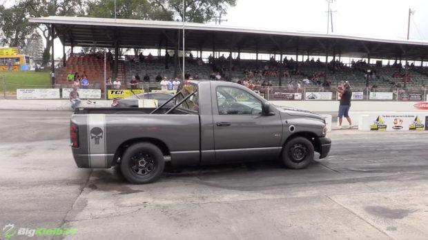 Dodge Ram truck with a twin-turbo 6.0 L LSx V8
