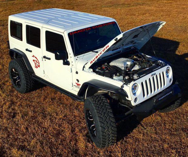 Jeep Wrangler with a Hellcat V8