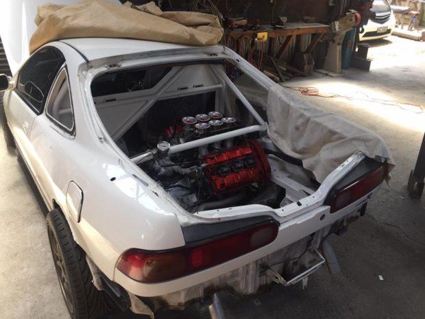 RWD Honda Integra with a Mid-Engine NSX V6 – Engine Swap Depot