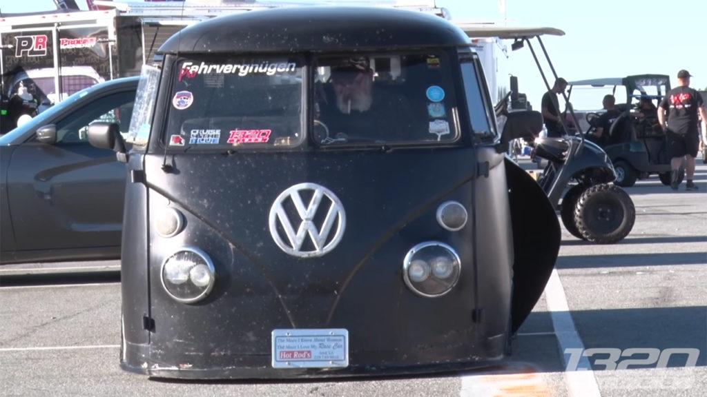"Mike ""Hotrod"" Rowan's 1963 VW Bus with a mid-engine 468 ci big-block Chevy V8"