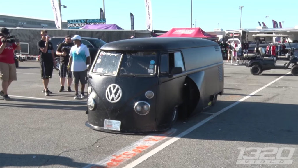 "Mike ""Hotrod"" Rowan's 1963 VW Bus with a mid-engine 468 ci big-block Chevy V8"