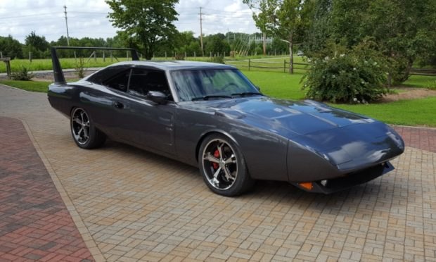1968 Charger body on a 2006 Charger SRT-8 chassis and powertrain