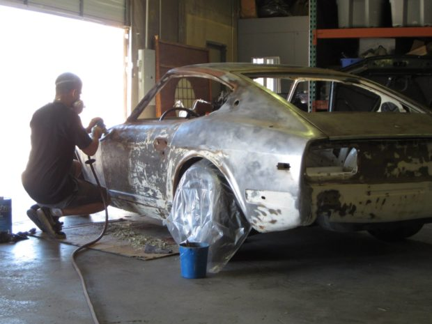 1973 Datsun 240Z with a stroked 3.2 L L-Series inline-six
