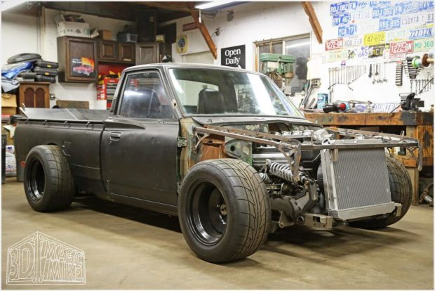 1973 datsun 620 truck with a twin-turbo 1uz v8