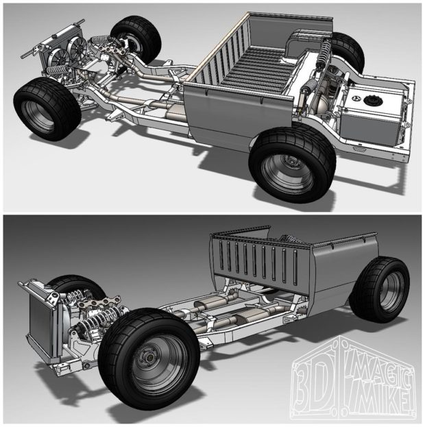 1973 Datsun 620 truck with a twin-turbo 1UZ V8