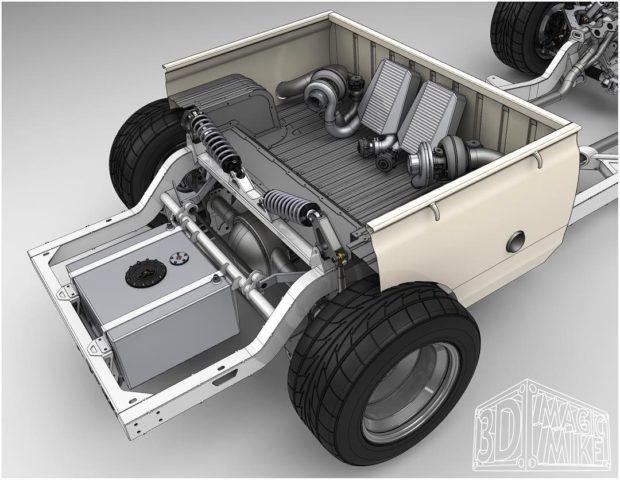 Datsun 620 with a Twin-Turbo 1UZ – Engine Swap Depot