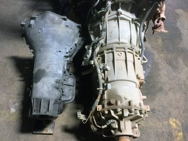 Allison overdrive five-speed automatic transmission next to GM Turbo 475