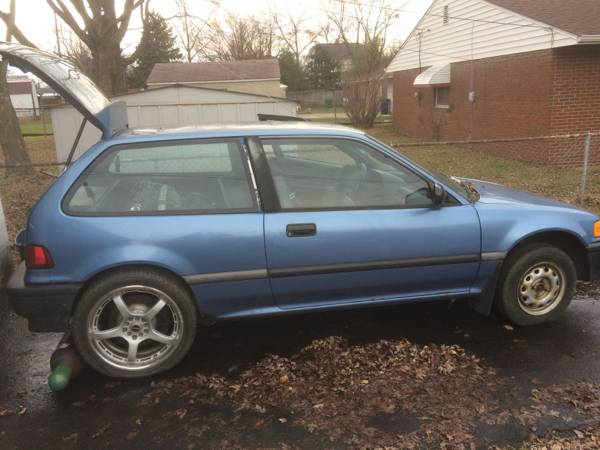 For Sale: 1991 Civic with a Mitsubishi V6 in Back – Engine