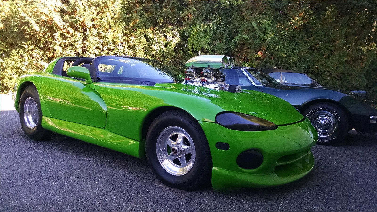 1998 viper with a blown chevy v8