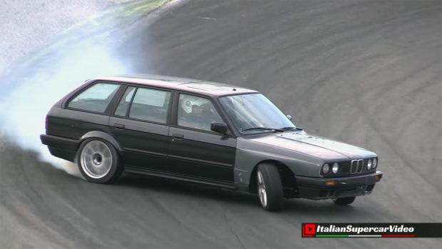 BMW E30 wagon with a 4.0 L M60 V8