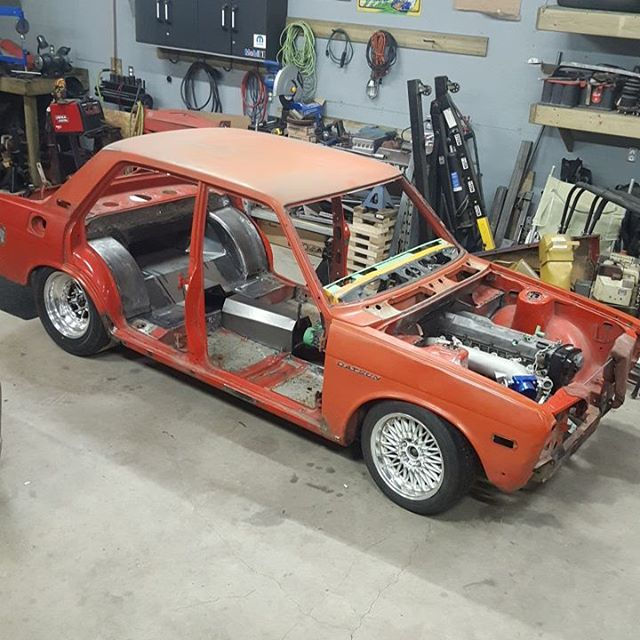 Datsun 510 with a RB25 inline-six