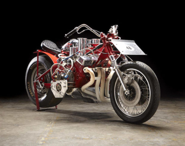 EJ Potter's Widowmaker 7 Chevy V8 powered motorcycle