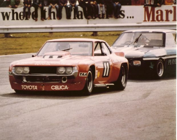 Bruce Gowans Toyota Celica Sports Sedan with a Repco V8