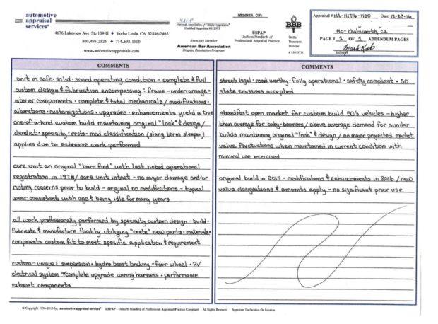 ICON Derelict 1950 Buick Roadmaster appraisal sheet