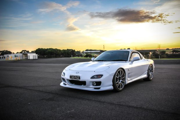 Mazda RX-7 with a Turbo K20