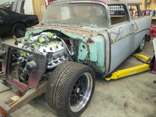 1956 Chevy Nomad with a 6.6 L Duramax V8