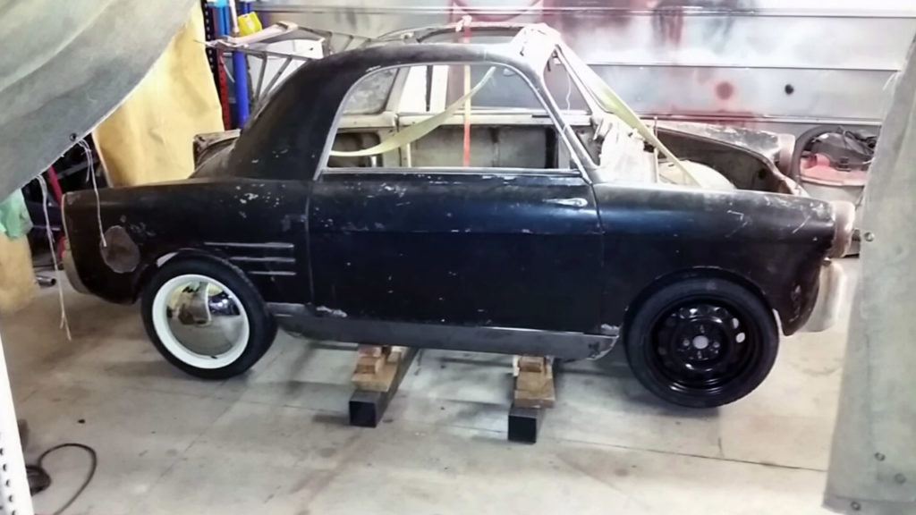 1959 Autobianchi Bianchina with a Motorcycle Inline-Four