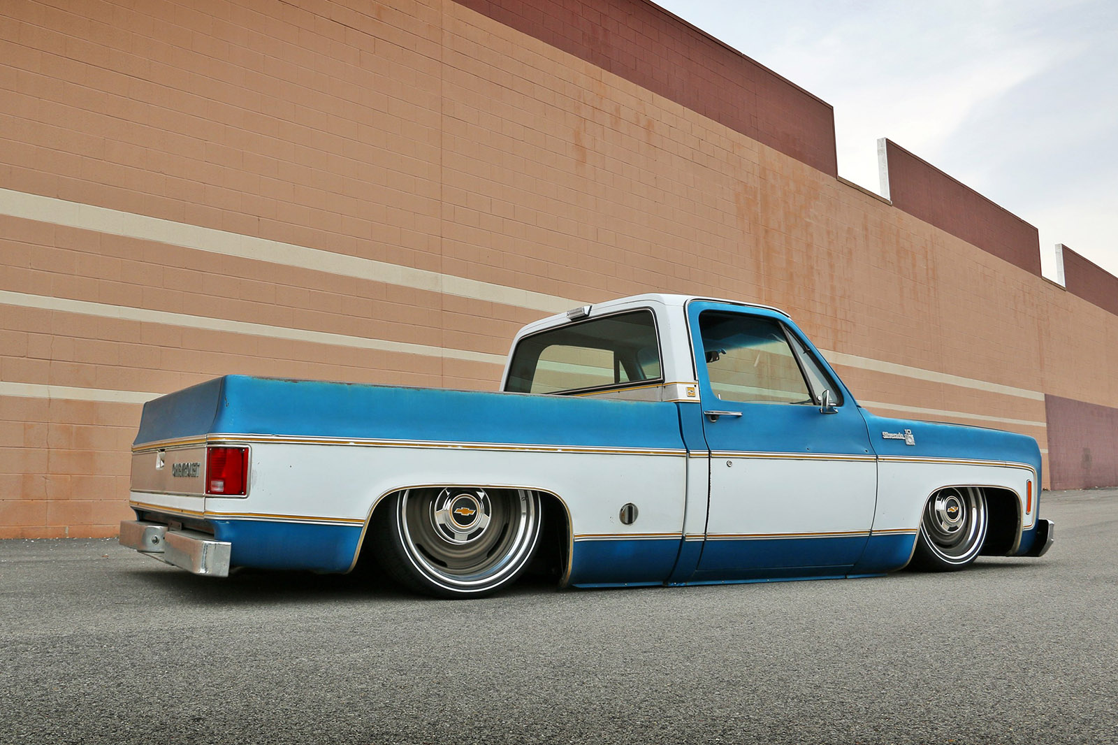 Chevy C10 With A 408 Ci Lsx Engine Swap Depot 1966 Truck Slammed As Mentioned Before The Received One Of Their 1973 1987 Spec Chassis These Come In Two Versions Regular Ride Height And Version