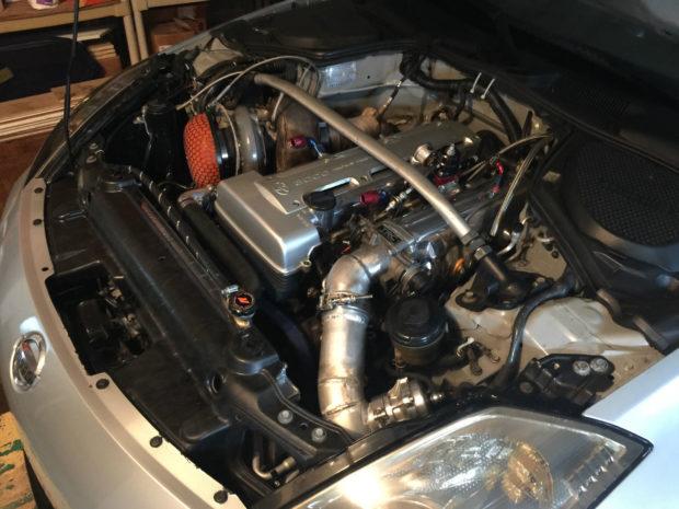 2007 Nissan 350Z with a 2JZ-GTE inline-six