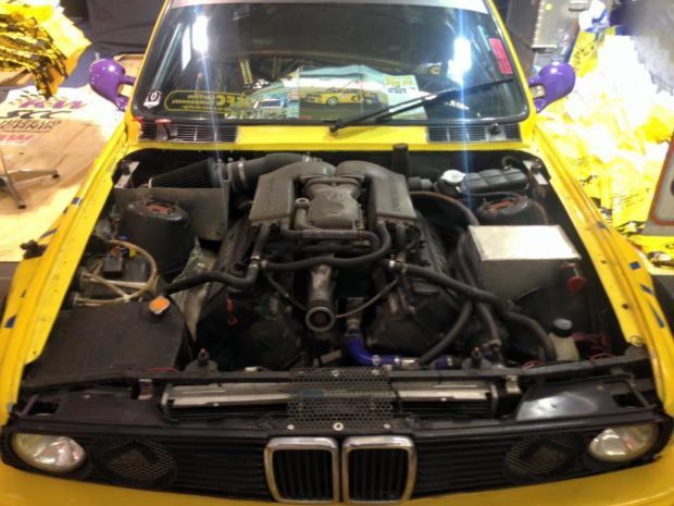 BMW E30 with a supercharged M62 V8