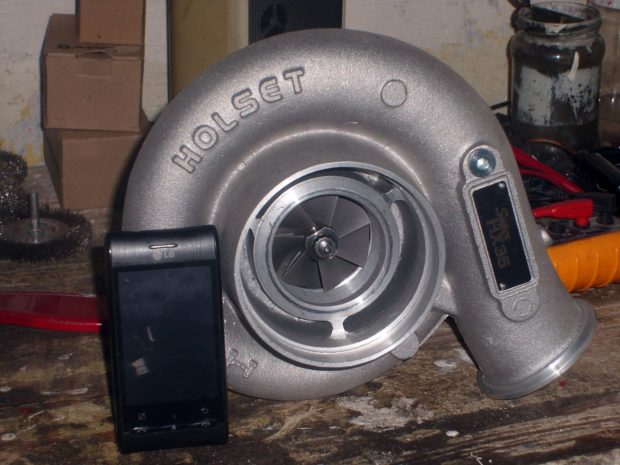 Mazda 323F with a turbo 1.8 L BP inline-four