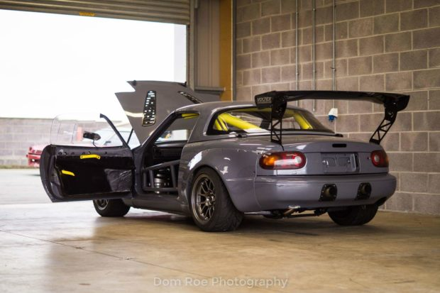 Mazda MX-5 with a Turbo 4G63 inline-four
