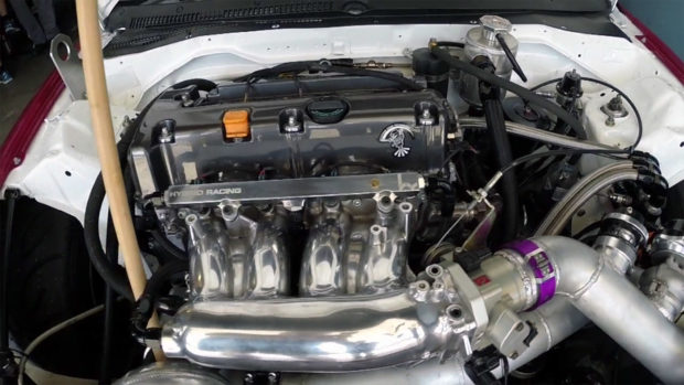 Honda CR-X with a supercharged 2.5 L K-series inline-four