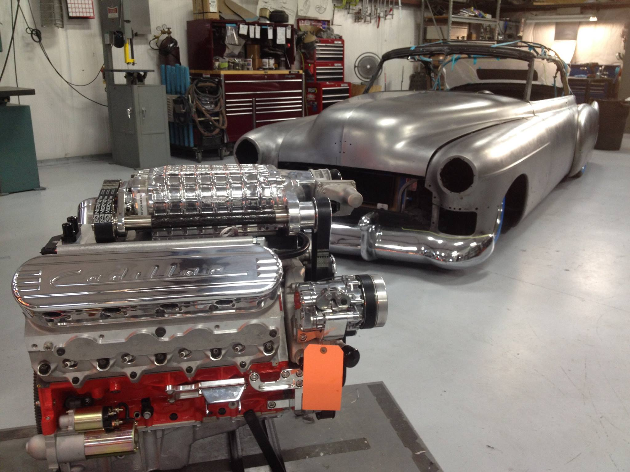1949 Cadillac Series 62 With A Supercharged Lsx Engine Swap Depot V8 The Finishing Touch Is Magnuson 2300 Supercharger Which Contributes To Engines 975 Horsepower And 913 Lb Ft Of Torque