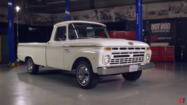 1966 Ford F-100 on a 2007 Crown Victoria Chassis