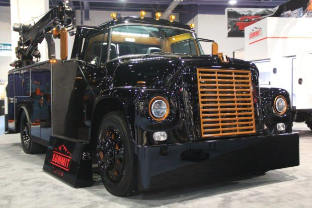 1973 International Loadstar with a supercharged 6.2 L Hellcat V8