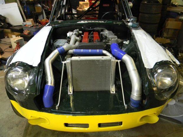 1973 MGB GT with a twin-turbo 1JZ inline-six