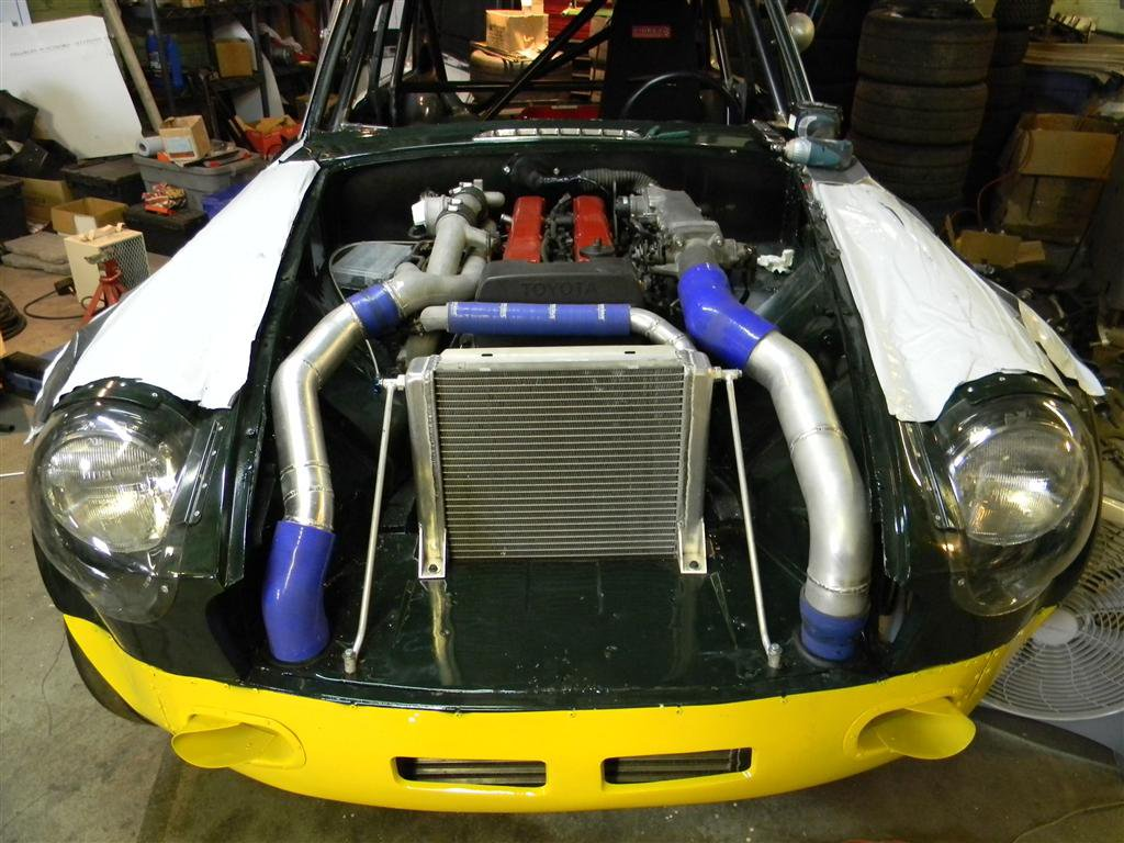 For Sale 1973 MGB GT with a Twin Turbo 1JZ ndash Engine Swap