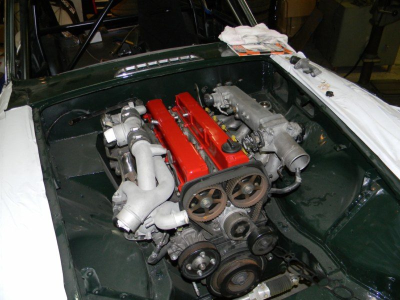 For Sale: 1973 MGB GT with a Twin-Turbo 1JZ – Engine Swap ...