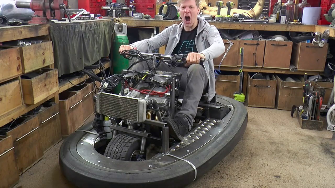 colin furze s bumper car with a motorcycle engine part 2 engine swap depot. Black Bedroom Furniture Sets. Home Design Ideas