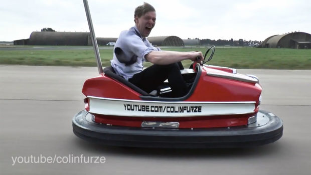 Colin Furze Bumper Car with a Honda CRR600 Engine