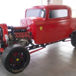 Custom 1932 Ford with a twin-turbo Ferrari V8