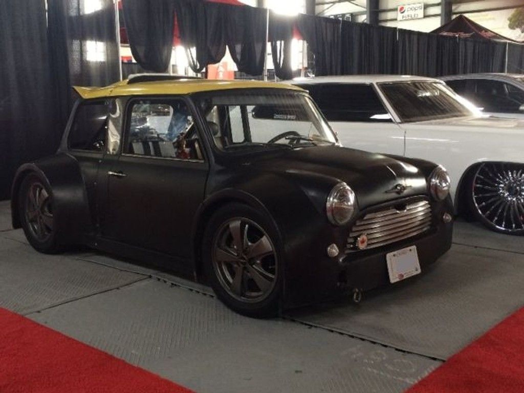 for sale custom mini cooper with a mid engine v8 engine. Black Bedroom Furniture Sets. Home Design Ideas