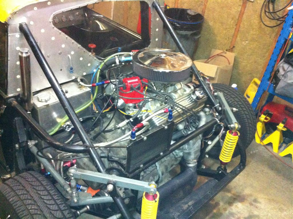 For Sale: Custom Mini Cooper with a Mid-Engine V8 – Engine