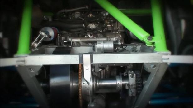 Fiat 500 with a BMW S1000RR inline-four