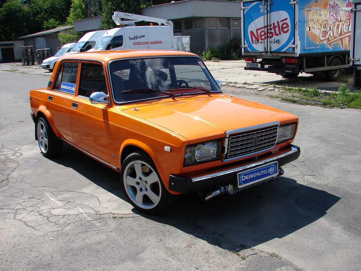 Lada 2107 With A Twin Turbo Vq35 Engine Swap Depot