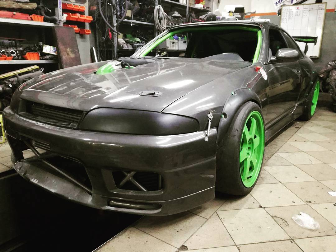 Nissan R33 Skyline with a turbo Coyote V8