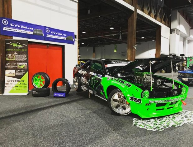 Nissan S13 with a supercharged 1UZ-FE V8