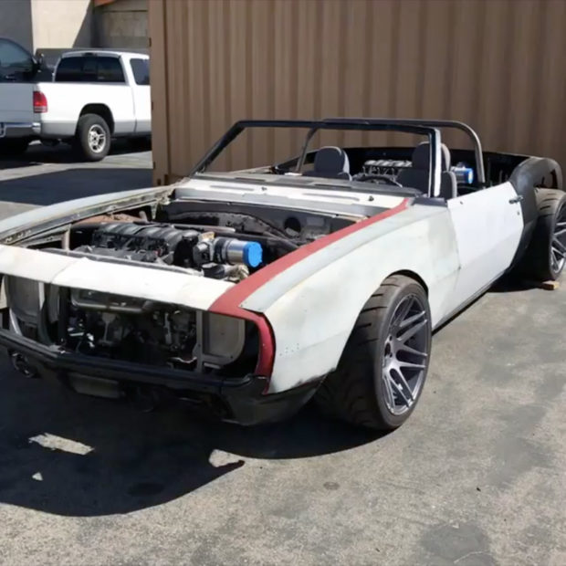 1968 Camaro with two LSx V8 engines