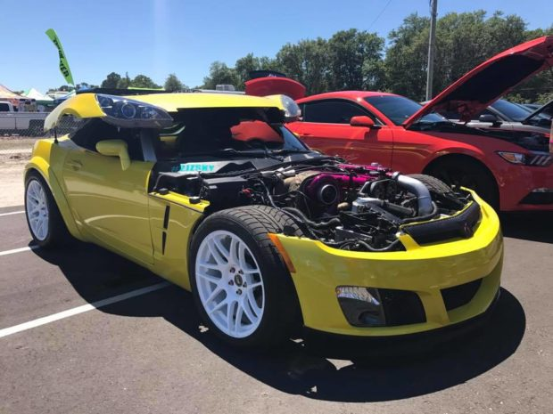 2008 Saturn Sky with a 2JZ-GTE inline-six