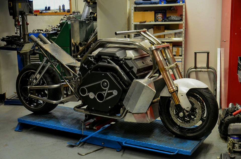 Custom Motorcycle With A Twin Turbo Bmw V8 Update Engine