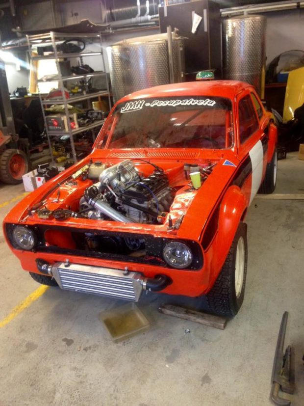 Ford Escort with a turbocharged Hayabusa engine