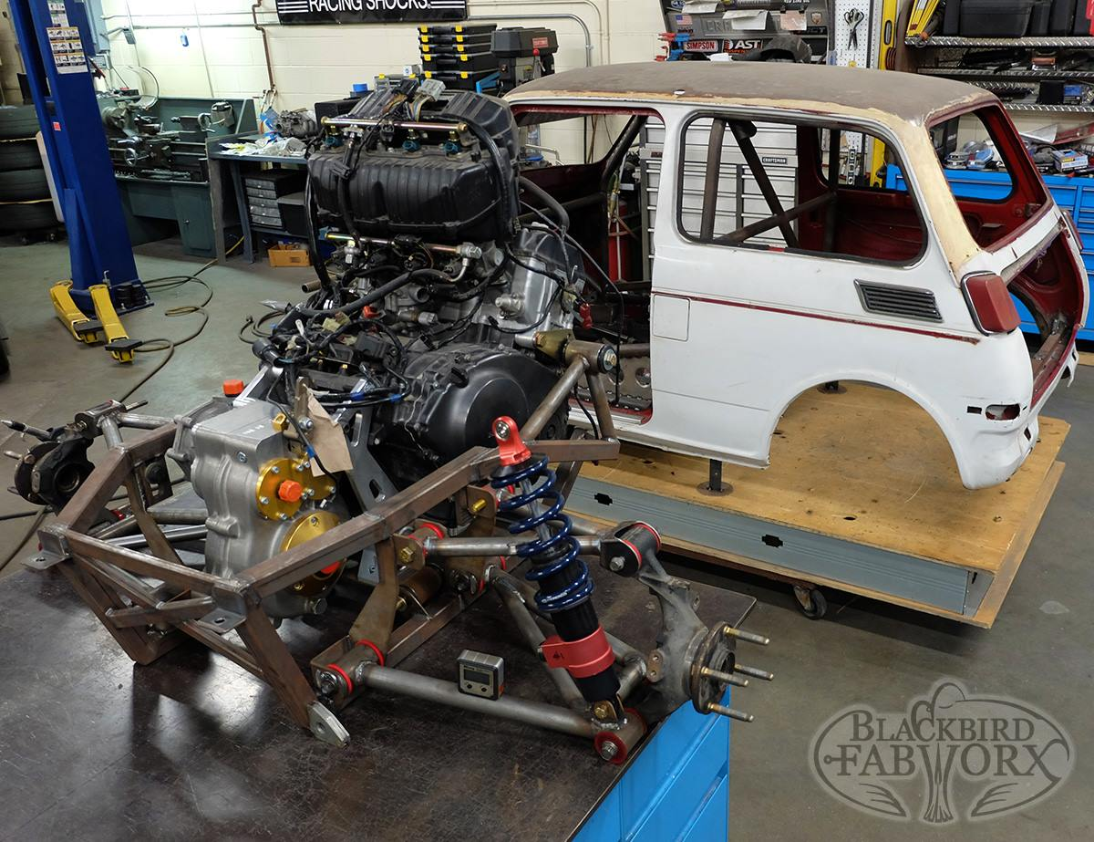 Honda N600 with a Mid-Engine CBR1000RR Inline-Four – Engine Swap Depot